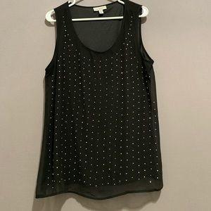 Cute Dress Barn sparkling sleeveless blouse